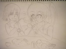 C.C And Shirley: Chopsticks by Kami-Jazzu