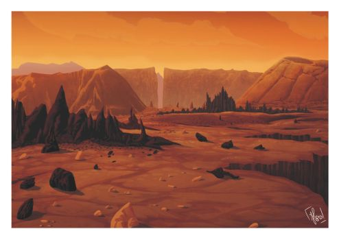 Martian landscape (inspired by Mission to Mars) by 1980Fabio