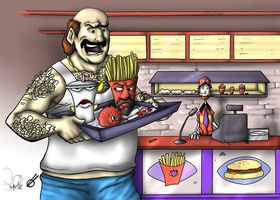Aqua Teen Value Meal - Colored by Aggiepuff