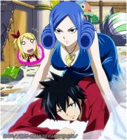 Gray, Juvia and Lucy? by Mey-chian