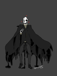 Gaster Undertale by The-twitching-candle