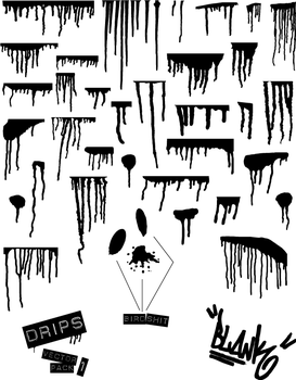Drips by Blank: Vector Pack 1 by Rickashay