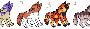 Feline adoptables 1 OPEN 2/4 by PointFreeadopts