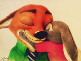 Nick and Judy  by AndrejSKalin