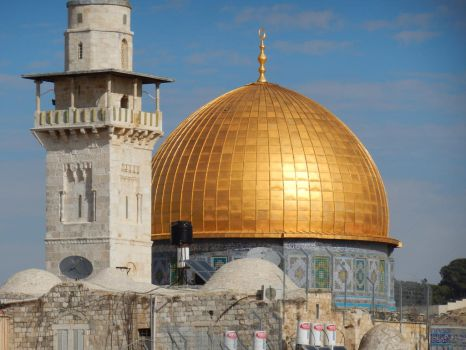 The Dome of the Rock with Minaret by wayne234