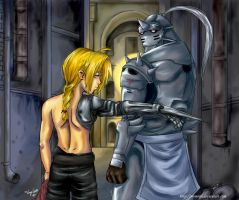 Elric Brothers by Momorii