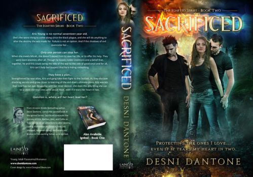 Book Cover, Sacrificed - Desni Dantone by Georgina-Gibson
