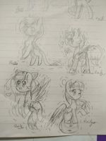 Sketchy ponies and cuteness GIFT by TwitterShy