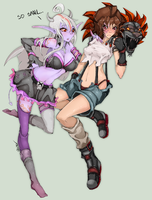 Lucy and Kali by Slugbox
