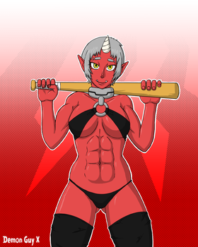 Template88's Red Oni by DemonGuyX