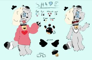 shade the wolf reference sheet 2017 by Shadethewolf345