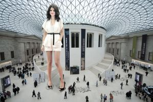 Selena Gomez in the British Museum by Accasbel