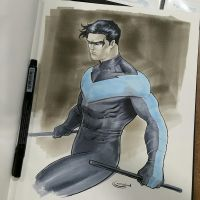 nightwing commission tampa bay comicon by Sajad126