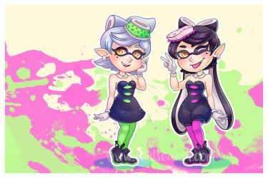Squid Sisters! by TealSeaArt