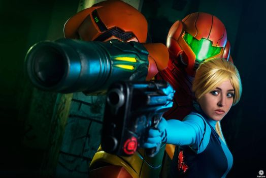 Metroid - SA-X and Samus 2 by tarrer