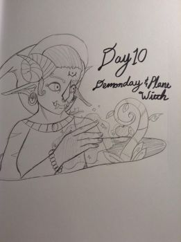 Drawlloween/Witchyartchallenge day 10 by fightingjoker
