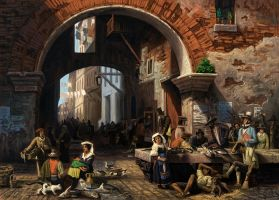Roman Fish Market: Arc of Octavius Copy by MarkBulahao