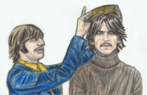 George Harrison gets crowned with a tambourine by gagambo