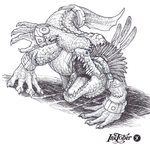 Inktober Day 22: Mythical Creature - Cipactli by WEAPONIX
