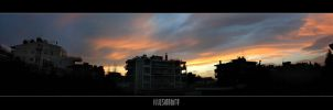 Veranda Sunset - Panorama by Illusion-Industries