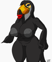 Le Busty Succy Hussie Toucan (coloured) by spalpp