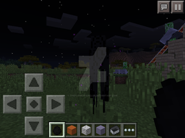 Spawning an enderman in creative by TheFloweyfanclub