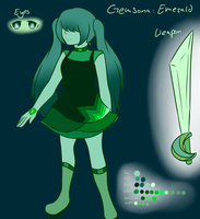 Gemsona: Emerald by Animeundso