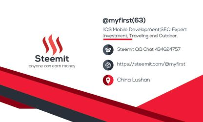 My  Steemit Business Cards by myfirststeem