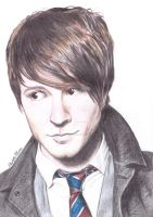 Owl City Adam Young Coloured Pencil Drawing by ArtbyCharlotte