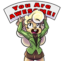 DevArt-Sticker You-Are-Awesome FINAL-IMG-02 by FilmmakerJ