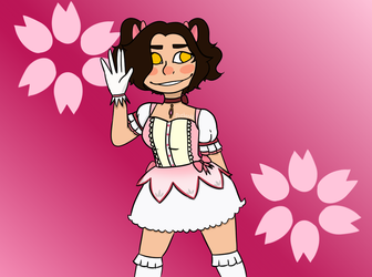 veronica but she's dressed as madoka by JustPlayPretendd