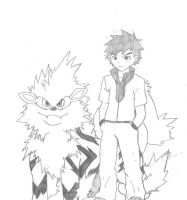 OC Trainer and Arcanine [OC] by A101TOME