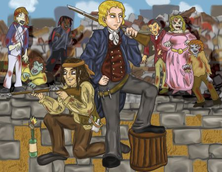 Zombie v LM: Enjolras R by RiderRRiddle