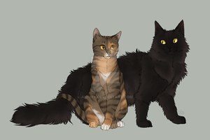 Purebreds - Robinwing and Fuzzypelt by AnnMY