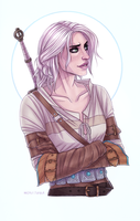 Ciri - The Witcher 3 - Wild Hunt by Naimly
