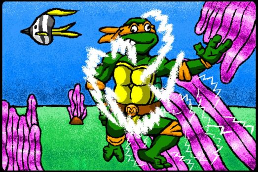 Michaelangelo (made in the Painter's Playground) by sergeant16bit