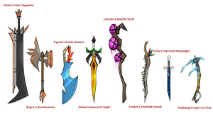 Legion Weapon Concepts by Terastrial-Sprout