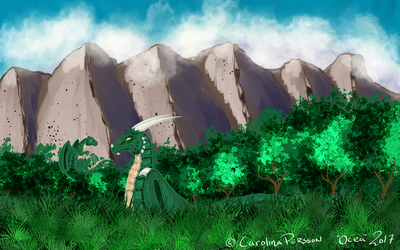 The forest dragons home by OceaChan