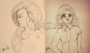 #13 and #14 sketches by Thyria