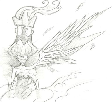 half wings lady by 5aXoR