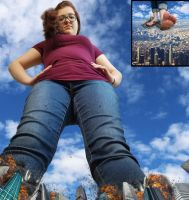Giantess Lexy's Revenge by KingKoopz123