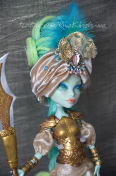 Oriental Warrior Princess Custom MH Doll Closeup by AlterDoll