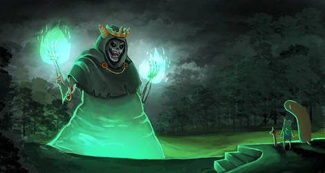 Adventure time: The Lich by BlandStuffTastesNice