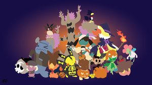 Halloween Pokemon Minimalist Wallpaper