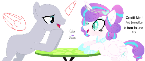 Collab with Princess Flurry Heart(Is a date?) by KingRipple