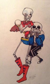 Papyrus and Sans by Aliceice1lalala