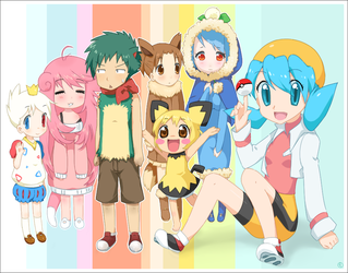 Noko's Pokemon Team by drill-tail