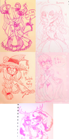 .:: Sketch Dump ::. Monsters and Cuties by OpalesquePrincess