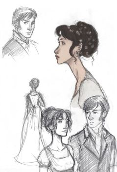 Pride and Prejudice Sketches by Ratgirlstudios