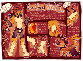 Fire Opal finally gets an Updated Ref by TawnySoup